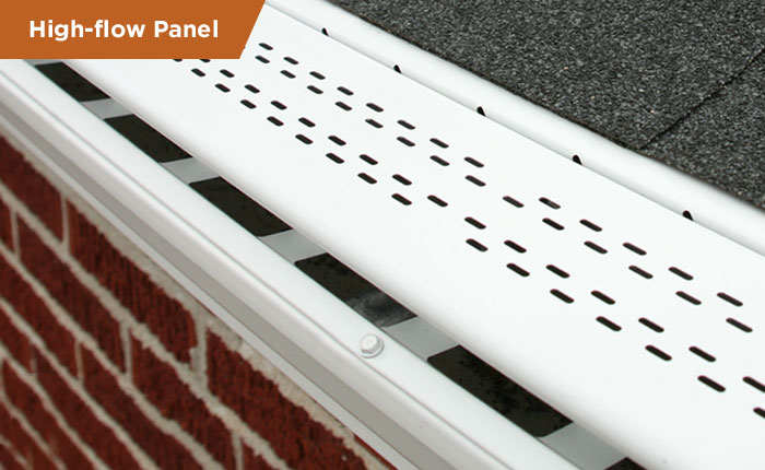 Bulldog gutter guard in white